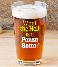 Jimmy's Grotto Glassware.  What the Hell is a Ponza Rotta